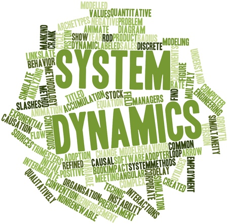 exponential: Abstract word cloud for System dynamics with related tags and terms Stock Photo