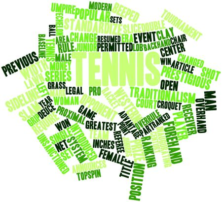 Abstract word cloud for Tennis with related tags and terms Stock Photo - 16678428