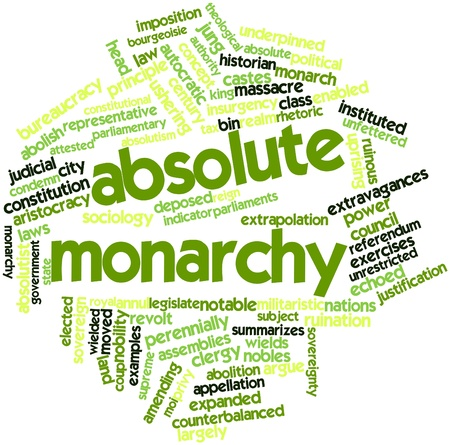 deposed: Abstract word cloud for Absolute monarchy with related tags and terms