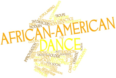 Abstract word cloud for African-American dance with related tags and terms Stock Photo - 16678574