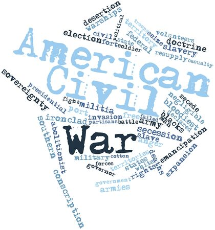 Abstract word cloud for American Civil War with related tags and terms Stock Photo