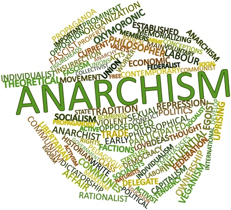 characterised: Abstract word cloud for Anarchism with related tags and terms