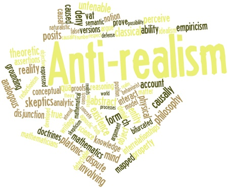 Abstract word cloud for Anti-realism with related tags and terms Stock Photo - 16678638