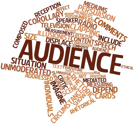 Abstract word cloud for Audience with related tags and terms Stock Photo - 16678736