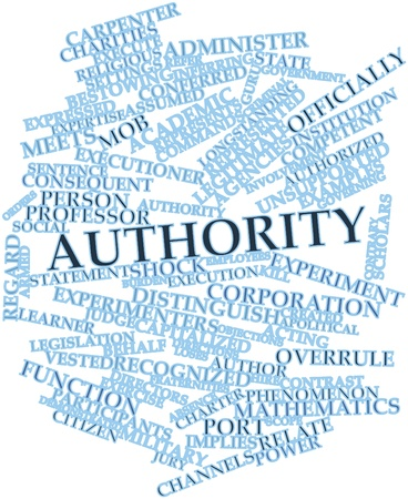 vested: Abstract word cloud for Authority with related tags and terms Stock Photo