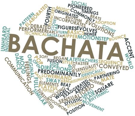 incorporates: Abstract word cloud for Bachata with related tags and terms