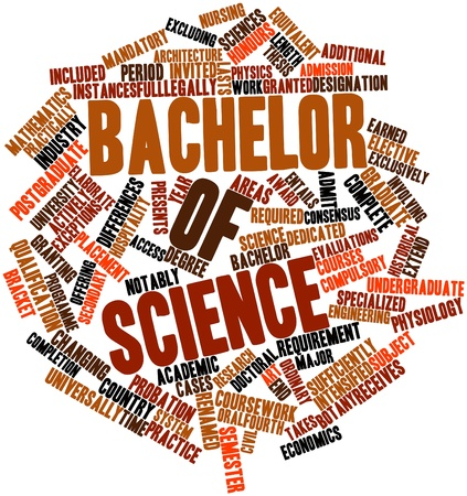 Abstract word cloud for Bachelor of Science with related tags and terms photo