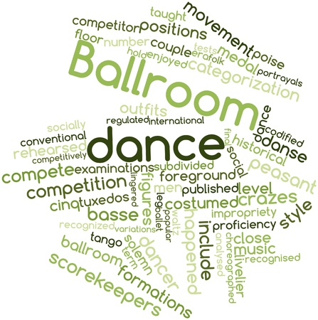 subdivided: Abstract word cloud for Ballroom dance with related tags and terms