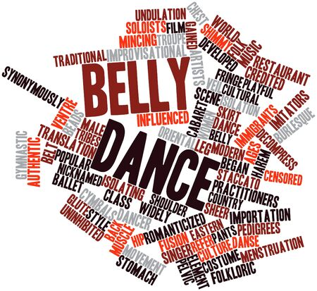 Abstract word cloud for Belly dance with related tags and terms Stock Photo - 16679222