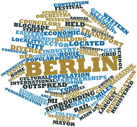 outspread: Abstract word cloud for Berlin with related tags and terms