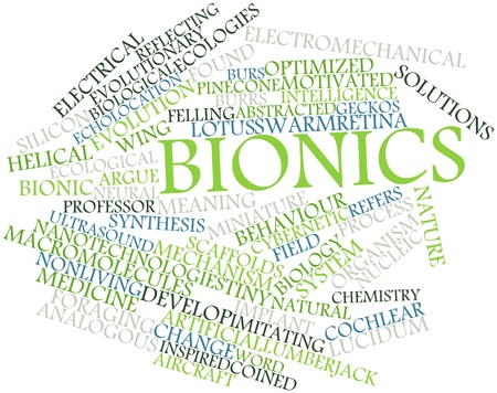 echolocation: Abstract word cloud for Bionics with related tags and terms Stock Photo