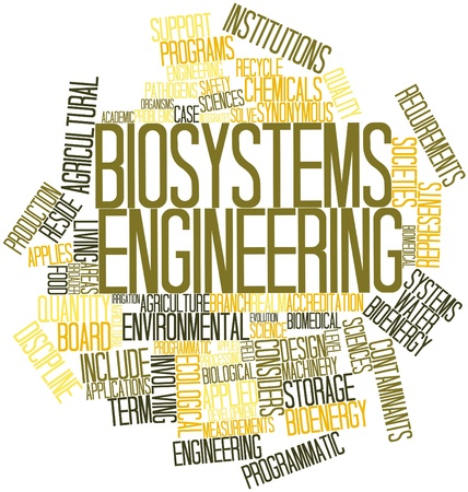 biological sciences: Abstract word cloud for Biosystems engineering with related tags and terms