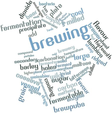 attenuated: Abstract word cloud for Brewing with related tags and terms