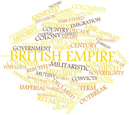 outbreak: Abstract word cloud for British Empire with related tags and terms