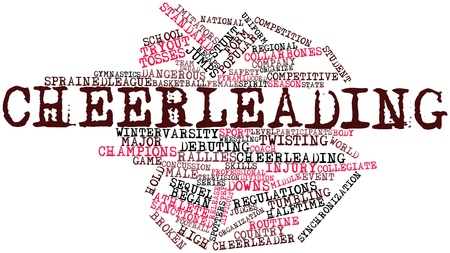 cheerleading: Abstract word cloud for Cheerleading with related tags and terms