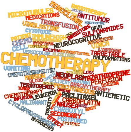 neoplasia: Abstract word cloud for Chemotherapy with related tags and terms