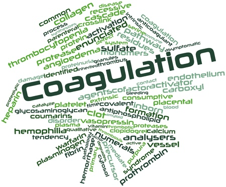 inactive: Abstract word cloud for Coagulation with related tags and terms