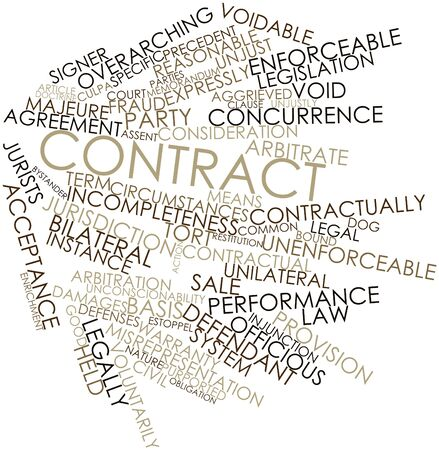 purported: Word cloud astratto per il Contratto con tag correlati e termini