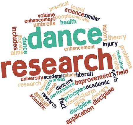 Abstract word cloud for Dance research with related tags and terms photo