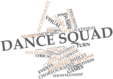 differs: Abstract word cloud for Dance squad with related tags and terms