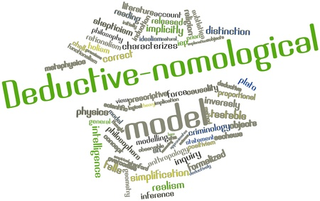 Abstract word cloud for Deductive-nomological model with related tags and terms Stock Photo - 16678575