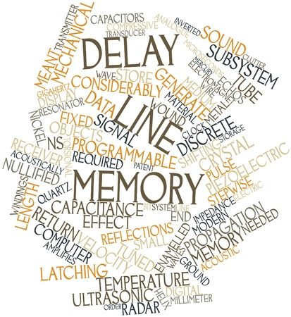shifting: Abstract word cloud for Delay line memory with related tags and terms