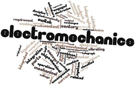 telegraphy: Word cloud astratto per Elettromeccanica con tag e termini correlati