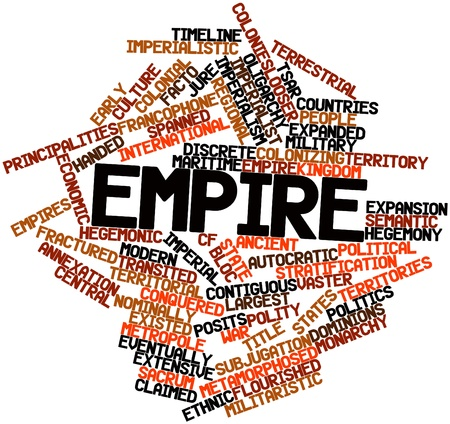 Abstract word cloud for Empire with related tags and terms Stock Photo - 16679196