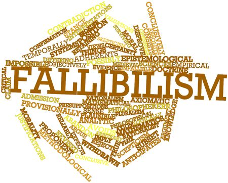 Abstract word cloud for Fallibilism with related tags and terms Stock Photo - 16679194
