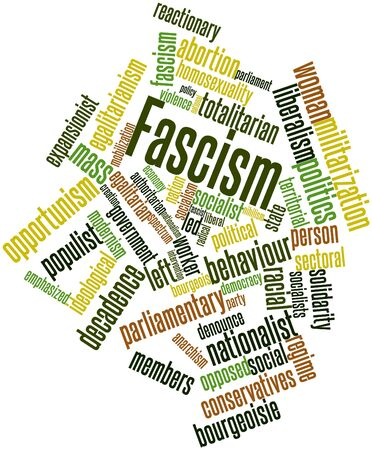 totalitarian: Abstract word cloud for Fascism with related tags and terms
