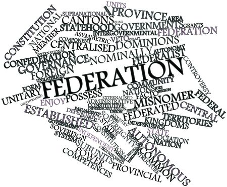 Abstract word cloud for Federation with related tags and terms Stock Photo - 16679225