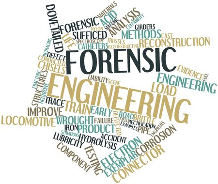 skids: Abstract word cloud for Forensic engineering with related tags and terms