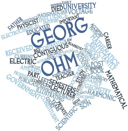 ohm: Abstract word cloud for Georg Ohm with related tags and terms