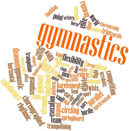 tumbling: Abstract word cloud for Gymnastics with related tags and terms