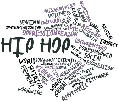 gangsta: Abstract word cloud for Hip hop with related tags and terms