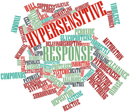 Abstract word cloud for Hypersensitive response with related tags and terms Stock Photo - 16679264