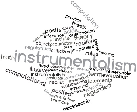 criticizes: Abstract word cloud for Instrumentalism with related tags and terms