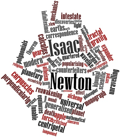 Abstract word cloud for Isaac Newton with related tags and terms Stock Photo - 16679092