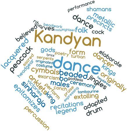 関連タグと用語とキャンディアン ダンスの抽象的な単語の雲