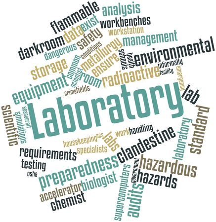 Abstract word cloud for Laboratory with related tags and terms photo