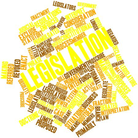 Abstract word cloud for Legislation with related tags and terms Stock Photo - 16679249