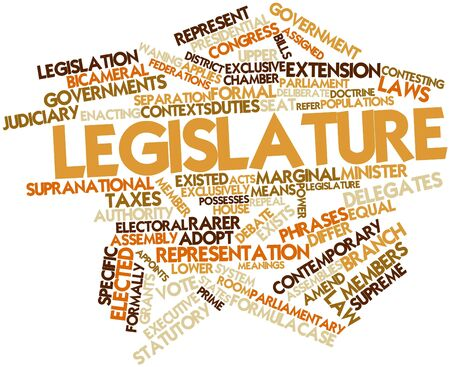 Abstract word cloud for Legislature with related tags and terms Stock Photo - 16678764