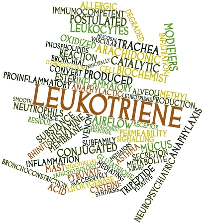 methyl: Abstract word cloud for Leukotriene with related tags and terms