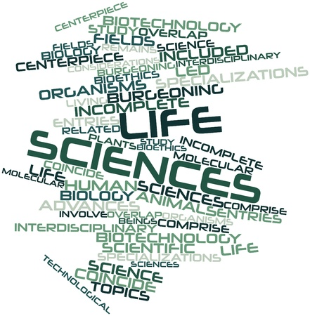 sciences: Abstract word cloud for Life sciences with related tags and terms