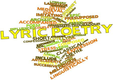 lyric: Abstract word cloud for Lyric poetry with related tags and terms