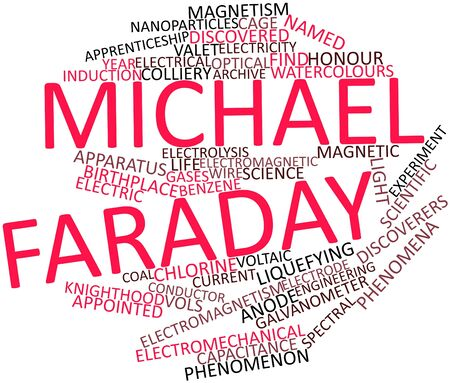 michael: Abstract word cloud for Michael Faraday with related tags and terms