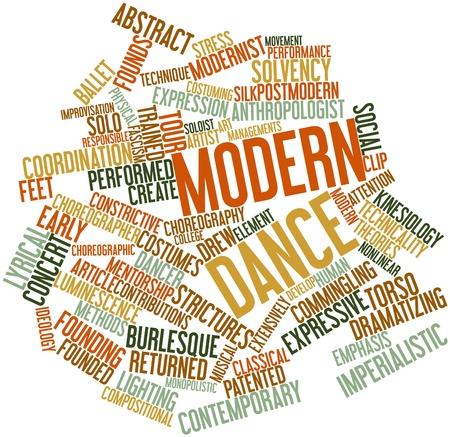 modern dance: Abstraktes Wort-Wolke f�r Modern Dance mit verwandten Tags und Begriffe