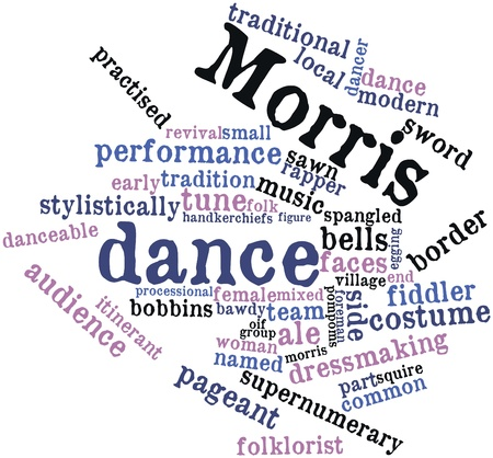 Abstract word cloud for Morris dance with related tags and terms Stock Photo - 16678651