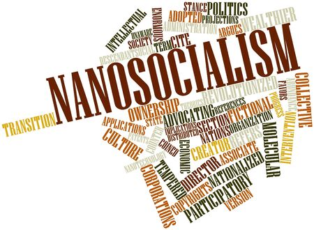 coined: Abstract word cloud for Nanosocialism with related tags and terms