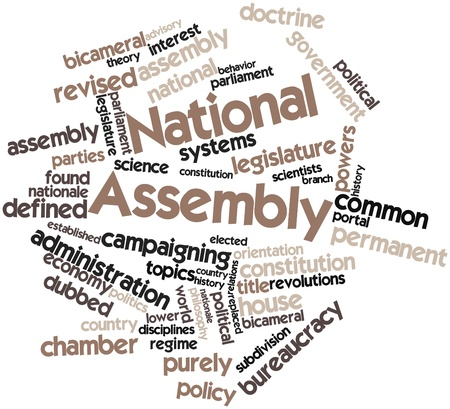 revised: Abstract word cloud for National Assembly with related tags and terms